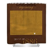 University Of Wyoming Cowboys Laramie Wy College Town State Map Poster Series No 128 Shower Curtain