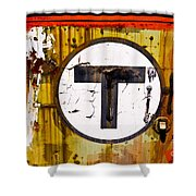 Unknown T - Railroad Art Shower Curtain
