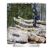 Unloading Firewood 4 Shower Curtain