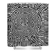 Unraveled Shower Curtain