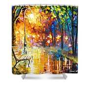 Unresolved Feelings - Palette Knife Oil Painting On Canvas By Leonid Afremov Shower Curtain