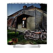Unrestored 1924 Indian Chief And Australian Farm House Shower Curtain