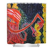 Unsatiated - Cropped Shower Curtain
