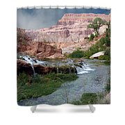 Unspoiled Waterfall Shower Curtain