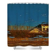 Double Vision 14 10/31 Shower Curtain