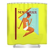 New Yorker August 9th, 2010 Shower Curtain by Christoph Niemann