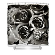 Bw Rose Bouquet 2 Shower Curtain