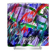 Untitled Drawing Shower Curtain