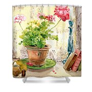 Untitled Shower Curtain by Julia Rowntree