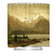 Untitled Mountains And Lake Shower Curtain