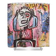 Untitled Noise Shower Curtain