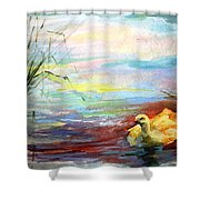 Untitled Watercolor       Shower Curtain