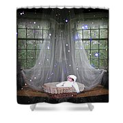 Unto Us A Child Is Born Shower Curtain
