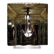 Unusual Lighting Fixture In Laduree On The Champs De Elysees Shower Curtain