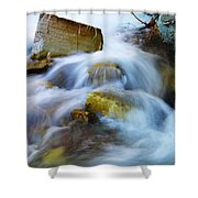 Unyeilding Rock Shower Curtain