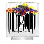Unzip The Colour Code Shower Curtain