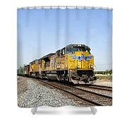 Up 8587 Southbound From Traver Shower Curtain