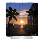 Up At Sunrise  Shower Curtain