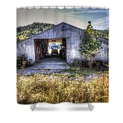 Up At The Barn Shower Curtain