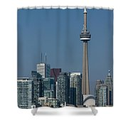 Up Close And Personal - Cn Tower Toronto Harbor And Skyline From A Boat Shower Curtain