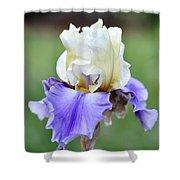 Up Close Elegant Iris Shower Curtain