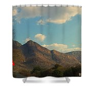 Up Close Mountains Shower Curtain