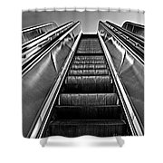Up Escalator Shower Curtain