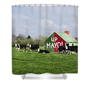Up Mayo Shower Curtain