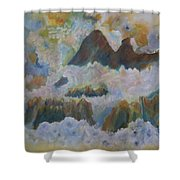 Up On Cloud Nine Shower Curtain