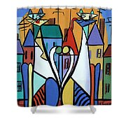 Up On The Roof Shower Curtain by Anthony Falbo