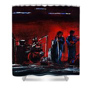 Up On The Stage Shower Curtain by Alys Caviness-Gober
