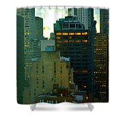 Up - Skyscrapers Of New York Shower Curtain