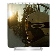 Up The Mountain Shower Curtain
