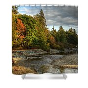 Up The River Shower Curtain