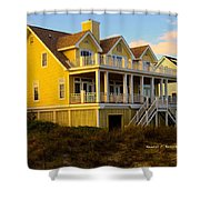 Up The Stairs At Isle Of Palms Shower Curtain