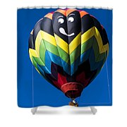 Up Up And Away In My Beautiful Balloon Shower Curtain by Edward Fielding