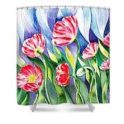 Upcoming Wind Poppy Field Shower Curtain by Irina Sztukowski