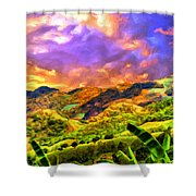 Upcountry Maui Sunset Shower Curtain
