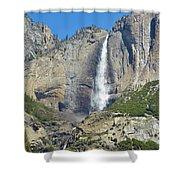 Upper And Lower Yosemite Falls Shower Curtain