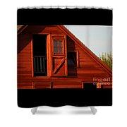Upper Barn Door-3704 Shower Curtain