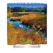 Upper Cary Lake In The Adirondacks Shower Curtain