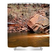 Upper Emerald Pools At Zion National Park Shower Curtain