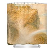 Upper Fall Of The Reichenbach - Rainbow Shower Curtain