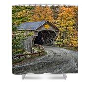 Upper Falls Covered Bridge Shower Curtain