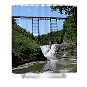 Upper Falls Of The Genesee River  Shower Curtain