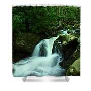 Upper Lynn Camp Prong Cascades Shower Curtain