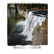 Upper Mesa Falls Idaho Shower Curtain
