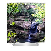 Upper Old Mans Cave Falls Shower Curtain