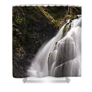 Upper Portion Of Lower Falls Shower Curtain