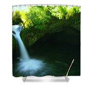 Upper Punch Bowl Falls Shower Curtain